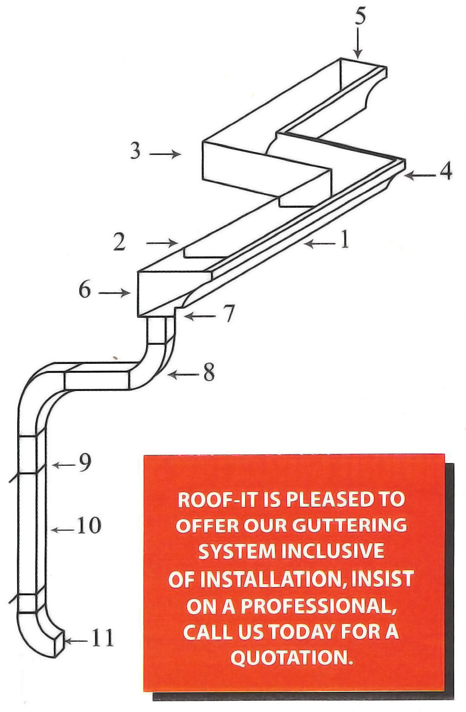 K Style Aluminum Guttering Roof It